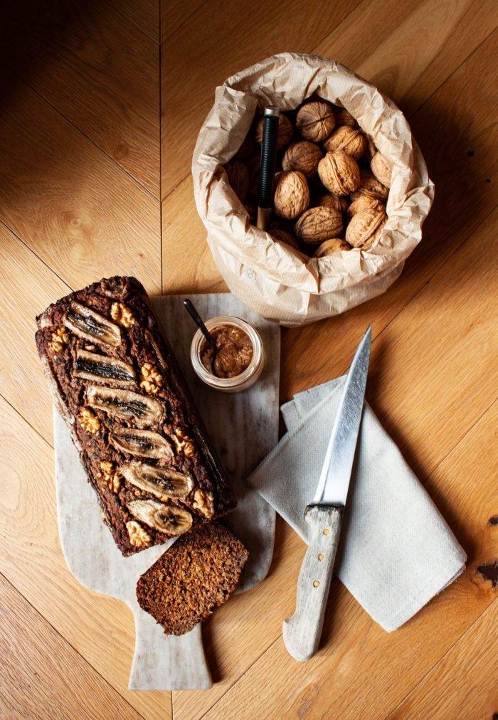 Banana granola bread